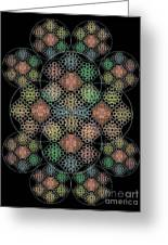 Chalice Cell Rings On Black Lt33 Greeting Card