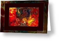 Challenges And Moments In Time Abstract Healing Art Greeting Card