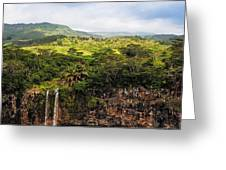 Chamarel Waterfall. Mauritius Greeting Card