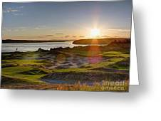 Chambers Bay Sun Flare - 2015 U.s. Open  Greeting Card