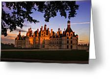 Chambord Castle At Sunset Greeting Card