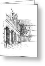 Chambord Courtyard Greeting Card