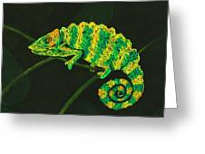 Chameleon Greeting Card by Anastasiya Malakhova