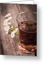 Chamomile Tea Retro Greeting Card by Jane Rix