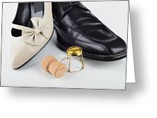 Champagne And Shoes For Saint Valentine Greeting Card