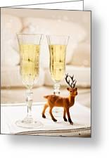 Champagne At Christmas Greeting Card