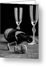 Champagne Bottle Still Life Greeting Card by Edward Fielding