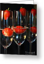 Champagne Cocktail Trio Greeting Card