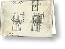 Champagne  Cork Extractor And Wire Cutter Patent Drawing Greeting Card