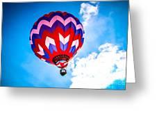Champion Hot Air Balloon Greeting Card