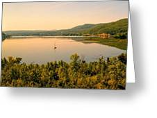 Champlain Viewed From Ticonderoga Greeting Card