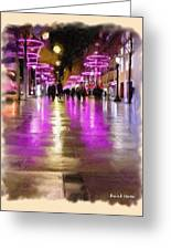 Champs Elysees In Pink Greeting Card
