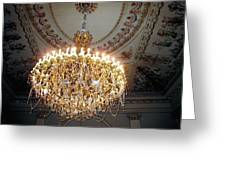 Chandelier At Palace Greeting Card