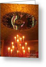 Chandelier At The Brown Palace In Denver Greeting Card