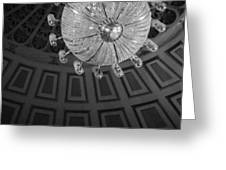 Chandelier-black And White Greeting Card