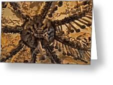 Chandelier Made Of Bones And Skulls. Greeting Card