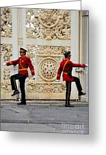 Change Of Guards Ceremony Dolmabahce Istanbul Turkey Greeting Card
