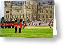 Changing Of The Guard In Front Of Parliament Building In Ottawa- Greeting Card