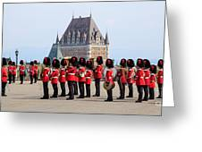 Changing Of The Guard The Citadel Quebec City Greeting Card