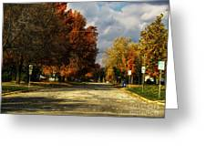 Changing To Fall Colors In Dwight Il Greeting Card
