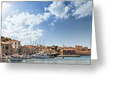 Chania Town On Crete Greeting Card