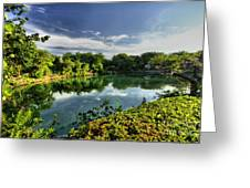 Chankanaab Lagoon Reflections Greeting Card