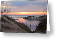 Channel Sunset Greeting Card