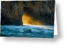 Chaos - Pfeiffer Beach Greeting Card by George Buxbaum