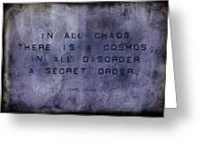 Chaos - Carl Jung Greeting Card