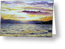 Chapala Sunset Greeting Card
