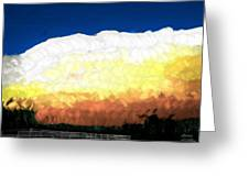 Chaparra Supercell At Sunset Greeting Card