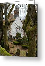 Chapel And Cemetary Greeting Card