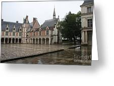 Chapel And Courtyard Chateau Blois Greeting Card