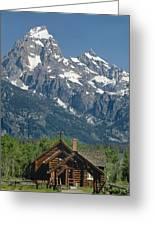1m9335-chapel And Grand Teton Greeting Card