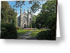 Chapel At Mt Auburn Cemetery Greeting Card