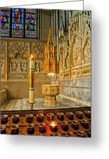 Chapel At Saint Patricks Cathedral Greeting Card