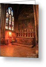 Chapel In St Severin Church Paris Greeting Card