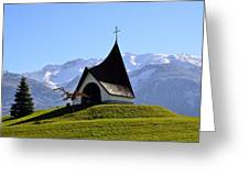 Chapel In The Alps Greeting Card