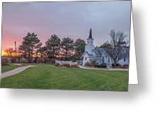 Chapel In The Pines Greeting Card