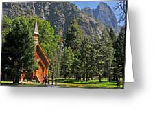 Chapel In The Valley Greeting Card
