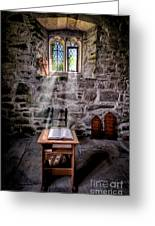 Chapel Light Greeting Card by Adrian Evans