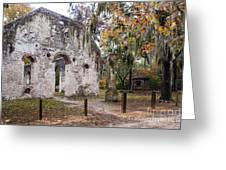 Chapel Of Ease Ruins And Mausoleum St. Helena Island South Car Greeting Card