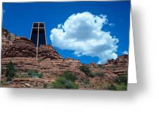 Chapel Of The Holy Cross In Sedona Greeting Card