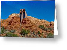 Chapel Of The Holy Cross Sedona Az Front Greeting Card