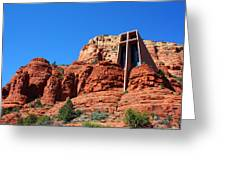 Chapel Of The Holy Cross Sedona Greeting Card
