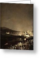 Chapel On The Rock Stary Night Portrait Monotone Greeting Card by James BO  Insogna