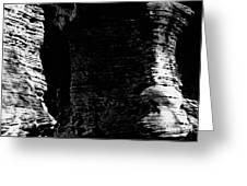 Chapel Rock Foundations Bw Greeting Card