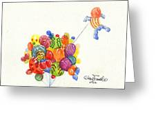Characters In Balloon Greeting Card