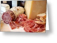 Salami And Cheese Greeting Card