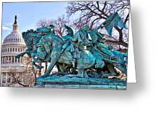 Charge On The Capitol Greeting Card